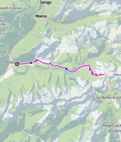 Cartina / Passo Rolle - Predazzo