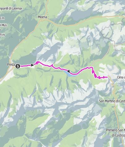 Map / Passo Rolle - Predazzo
