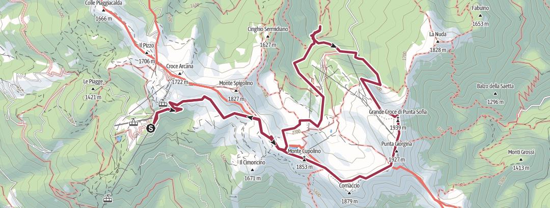 Mapa / Da Cutigliano a Corno alle Scale