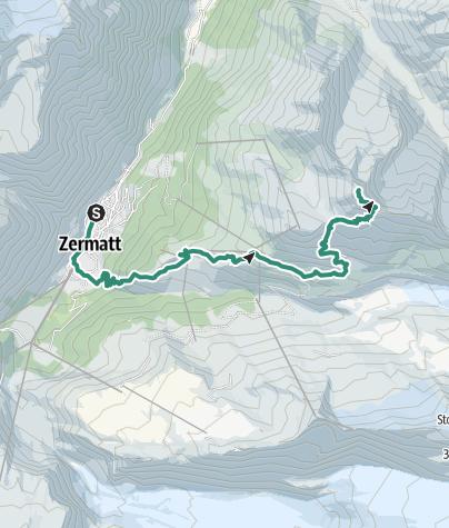 Map / Zermatt bis Oberrothorn
