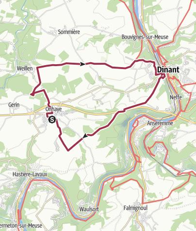 Map / Onhaye - Dinant
