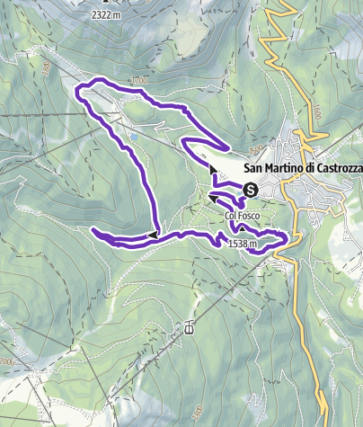 Karte / San Martino Running