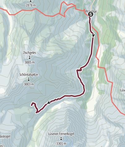 Map / SHR Alpin 3.Etappe: Praxmar – Westfalenhaus, Sellrainer Hüttenrunde