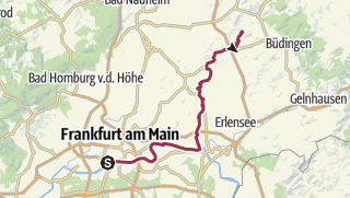 Mapa / Bahnradweg 1: Hanau – Glauburg