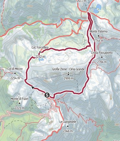 Mappa / Tre Cime di Lavaredo