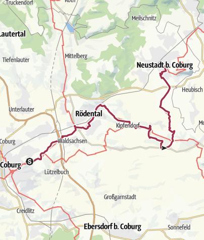 Karte / Lutherweg: Etappe 16 - Von der Veste Coburg nach Neustadt bei Coburg