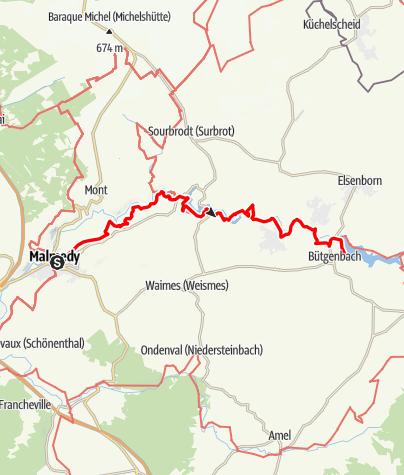 Carte / GR 56 - Etape Malmedy / Bütgenbach