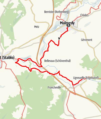 Carte / Gr 56 – Etape Malmedy - Ligneuville