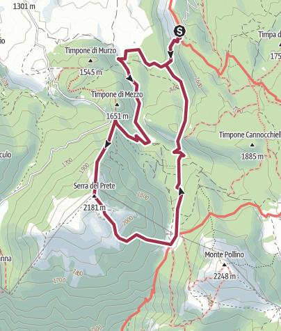 Mapa / Madonna del Pollino - Serra del Prete