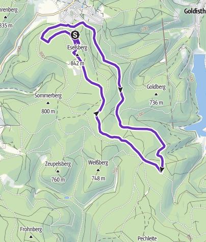 Map / Rennsteig-Herbstlauf 10km  Strecke