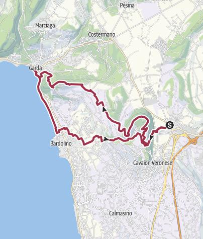Map / Garda Veronese-Da Affi a Garda attraverso il Moscal e Incaffi