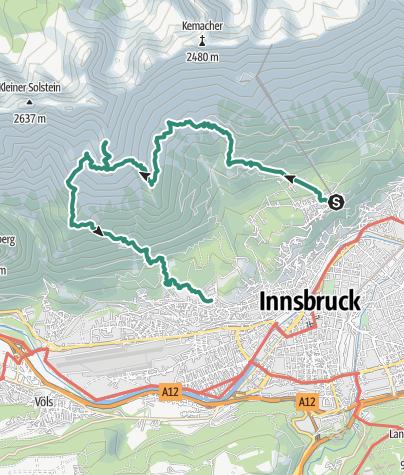 Map / Grandiose Tiefblicke auf Innsbruck