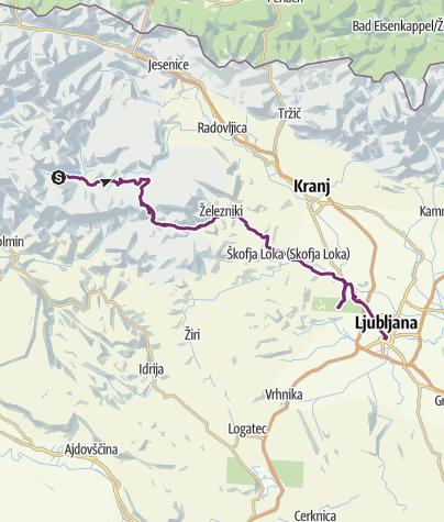 Map / Bohinjsko Jezero - Ljubljana (day 35)