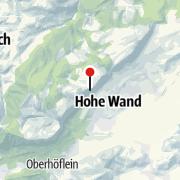 מפה / מרפסת תצפית הוהה וואנד (Skywalk Hohe Wand)
