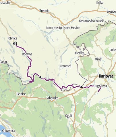 Map / Prigorica - Duga Resa (day 37)