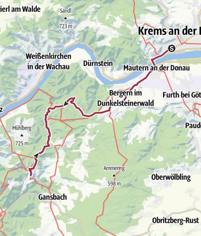 Karte / Tag 3: Krems an der Donau - Maria Langegg (2020-09-20)