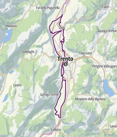 Karte / LA MOSERISSIMA - Historical bicycle race of Trento