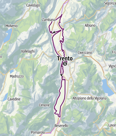 Map / LA MOSERISSIMA - Historical bicycle race of Trento