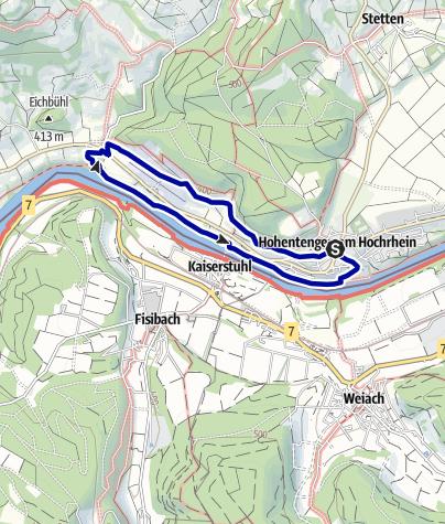 Karte / Durch die Reben des Ölbergs zur Ruine Weißwasserstelz