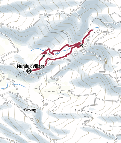 Carte / Trois cascades Munduk