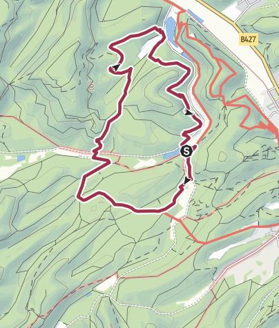 Karte / Dahn/Wolfstour, 7 km,