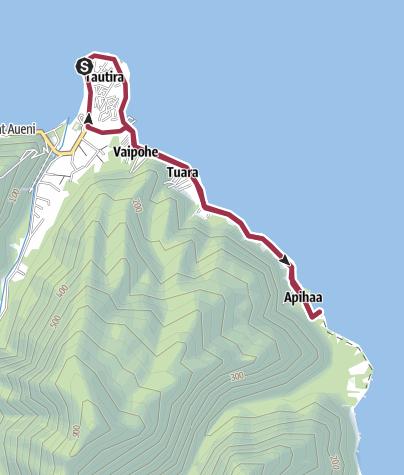 Mapa / Sur la côte près de Tautira