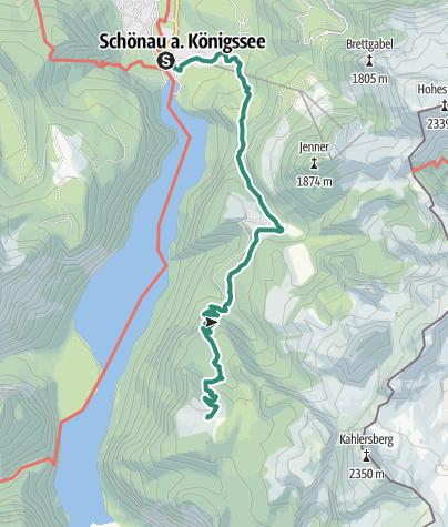 Map / Königssee to Gotzenalm