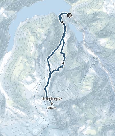 Karte / Oberlercherspitze 3106m