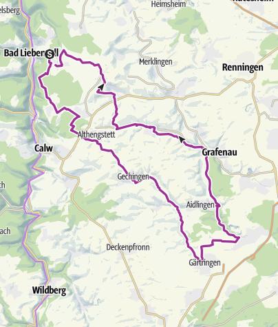 Carte / Unterhaugstett - Ehingen - Simmozheim (Rundtour)