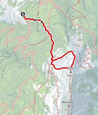 Karte / Hinauf auf den Largoz