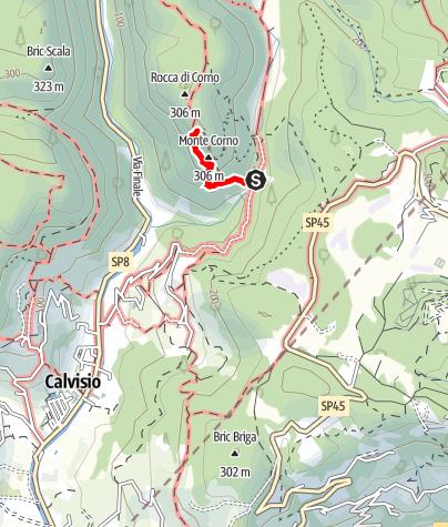 "Karte / Zona rossa - Klettergarten bei Finale mit Highlight ""Rombo di Vento"""