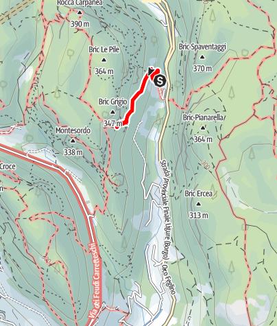 Karte / Tre Frati - sehr fotogene Felszapfen bei Finale