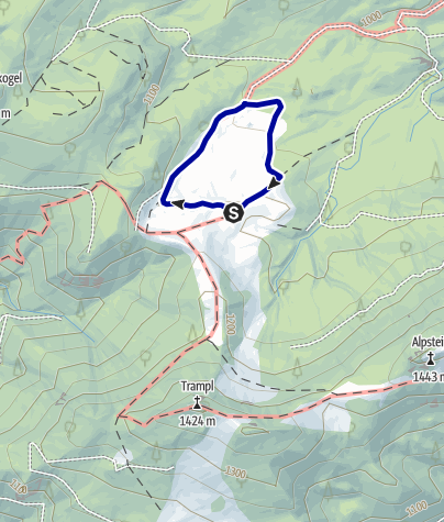 Karte / Wollgras, Alm und Wasserschwinde (Ebenforst), Rundwanderweg
