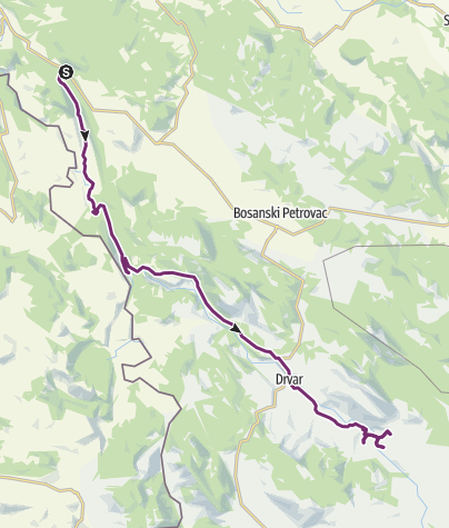Map / Dubovsko - Jezero Župica (day 40)
