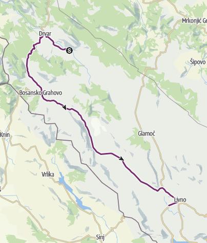 Map / Jezero Župica - Livno (day 41)