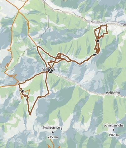 Karte / BIG-10 (Teil 1) in Saalbach Hinterglemm Leogang