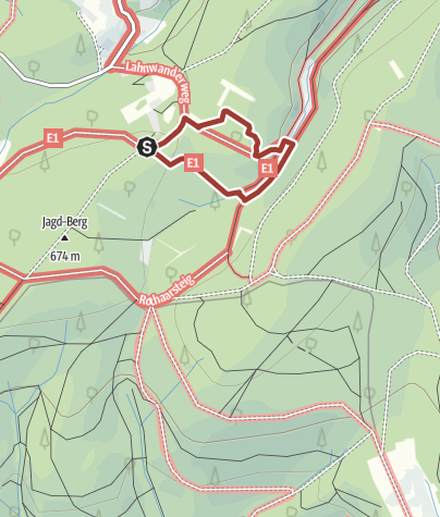 """Karte / Märchenwanderweg """"Kleiner Rothaar"""""""