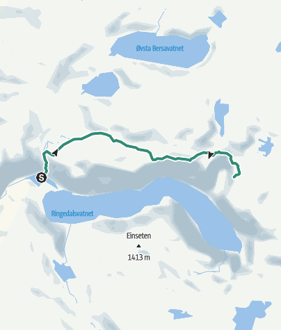 Map / Hike to Trolltunga (Troll's Tongue)