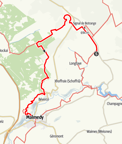 Carte / GR 56 - Etape Malmedy / Centre Nature Botrange