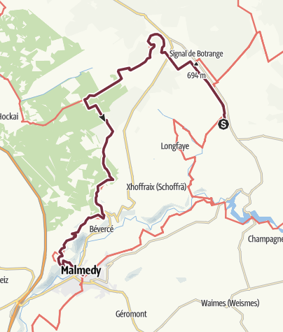 Map / GR 56 - Etappe Botrange / Malmedy