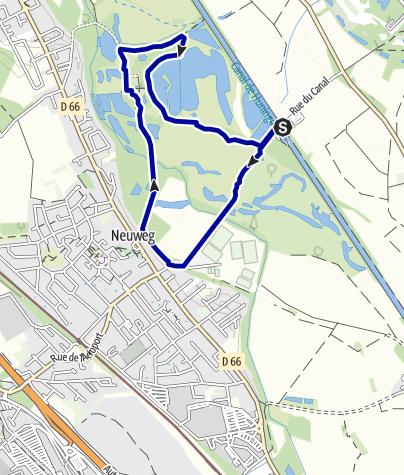 """Karte / Auf Pfaden der Petite Camargue Alsacienne - """"Mittlere Au"""" Rundgang"""