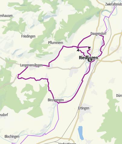 Karte / Tour 1: Kleine Tour um Riedlingen