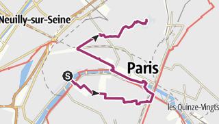 Karte Paris Eiffelturm.Stadtrundgang Paris Stadtrundgang Outdooractive Com
