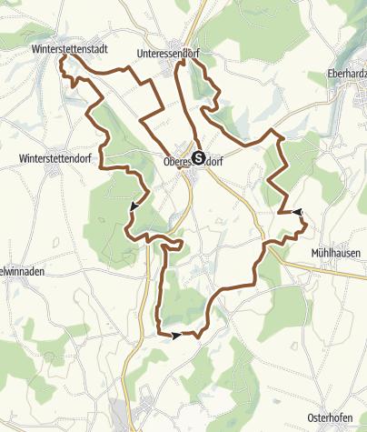 Karte / Tour 15: Auf den Spuren des heiligen St. Jakobus