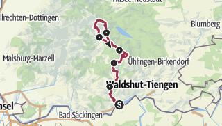 Map / Albsteig Schwarzwald - Albbruck bis zum Feldberg-Pass