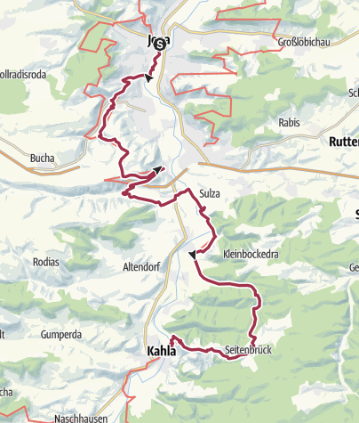 Map / Luther Trail: Section 27 – From Jena to Kahla
