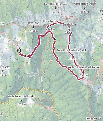 Map / Cima Portule e Bocchetta Portule