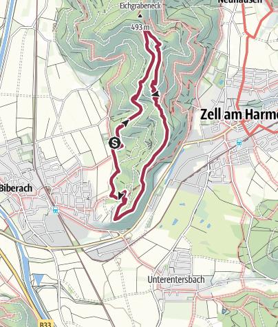 Map / Kleine Runde: Hangererstein-Badeck-Lehmann-Pavillion