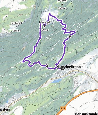 Karte / Feuerköpfl und Rudersburg