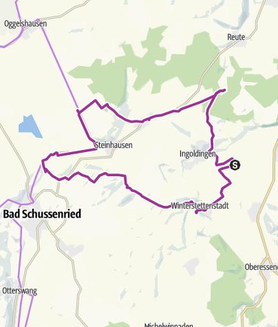 Karte / Auf den Spuren der Bio-Musterregion - Tour 2 - Ingoldingen - Schussenried